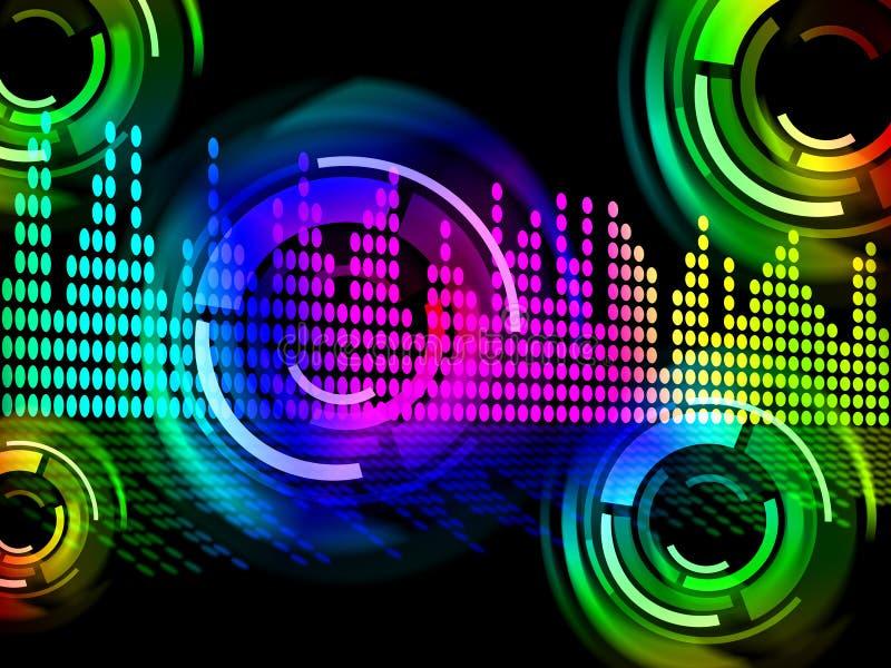 De digitale Muziek slaat Achtergrondmiddelen Elektronische Muziek of Correct F royalty-vrije illustratie