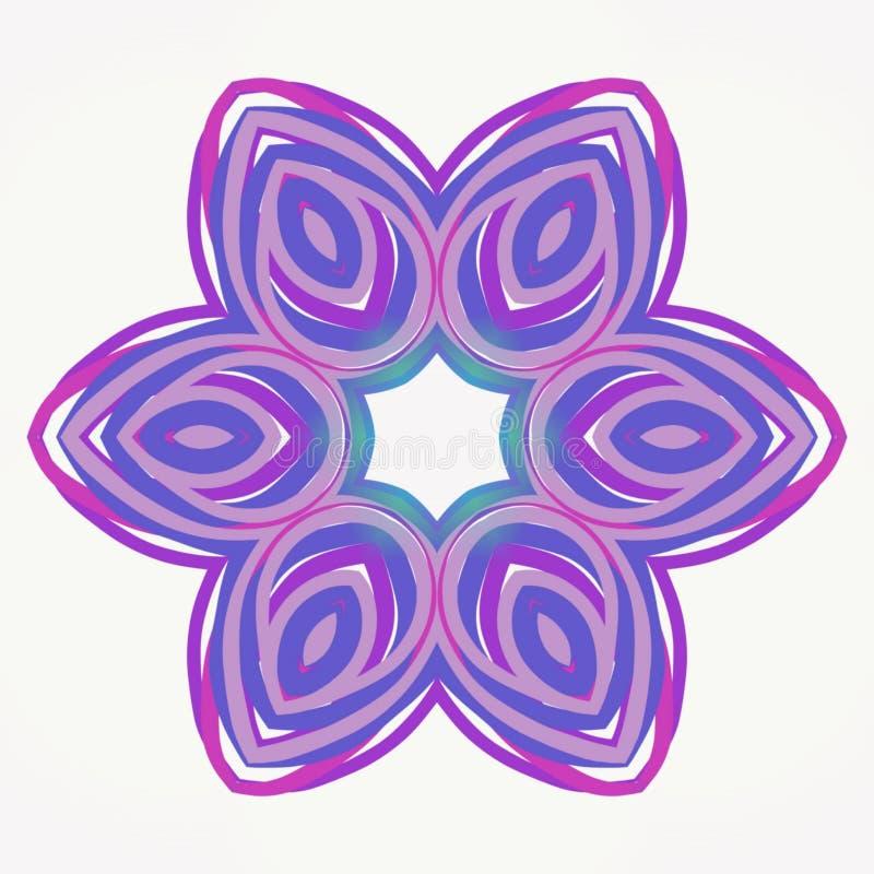 De digitale purpere lilac de bloemzomer van de kunstcaleidoscoop royalty-vrije illustratie