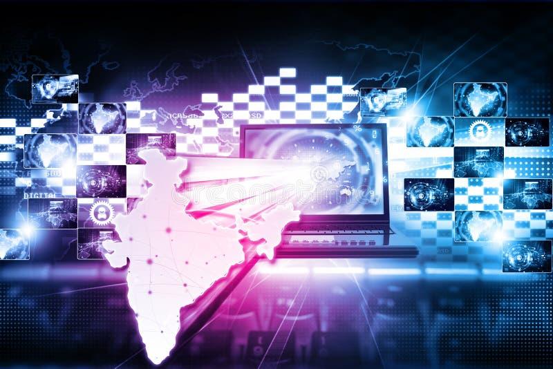 De digitale technologie van India Internet royalty-vrije illustratie