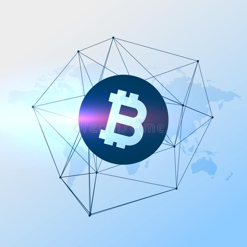 De digitale vectorachtergrond van de bitcoinsmunt vector illustratie