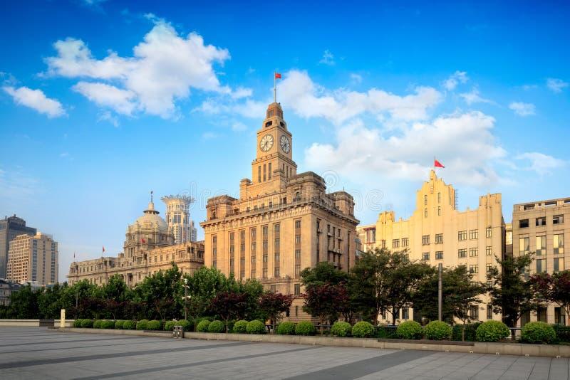 De Dijk Historische Gebouwen van Shanghai stock afbeelding