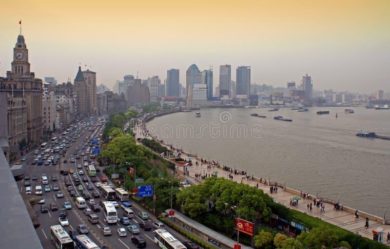 De dijk, Shanghai stock afbeeldingen