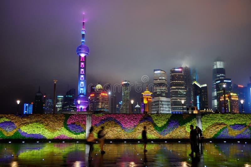 De Dijk in Shanghai China stock afbeelding