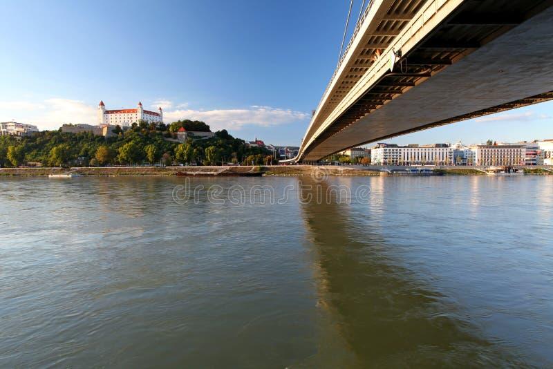 De dijk van Bratislava royalty-vrije stock foto's