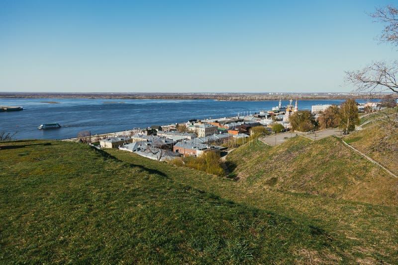 De dijk van Volga royalty-vrije stock afbeelding