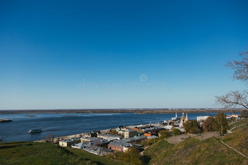 De dijk van Volga stock foto's