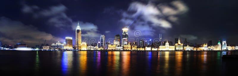 De dijkpanorama van China Shanghai royalty-vrije stock foto