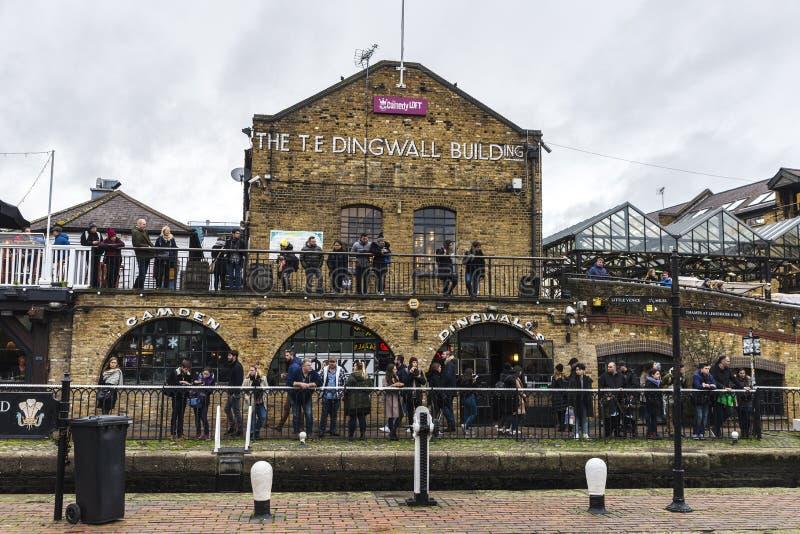 De Dingwallbouw in Camden Town in Londen, Engeland, Verenigde Koning stock afbeelding