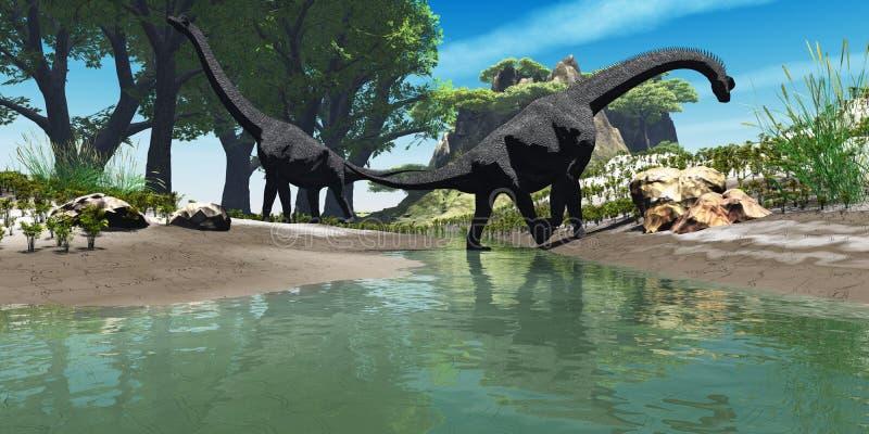 De Dinosaurus van Brachiosaurus royalty-vrije illustratie