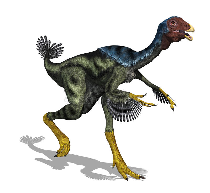 De Dinosaurus van Caudipteryx vector illustratie