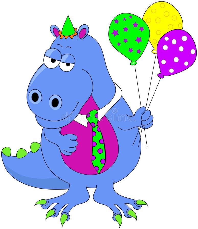 De Dinosaurus van de verjaardag royalty-vrije illustratie