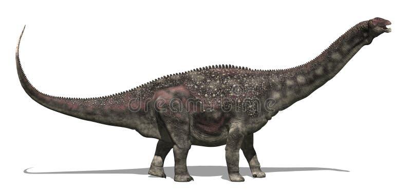De Dinosaurus van Diamantinasaurus vector illustratie
