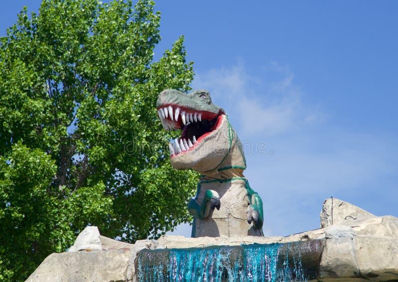 De Dinosaurustyrannosaurus Rex royalty-vrije stock foto