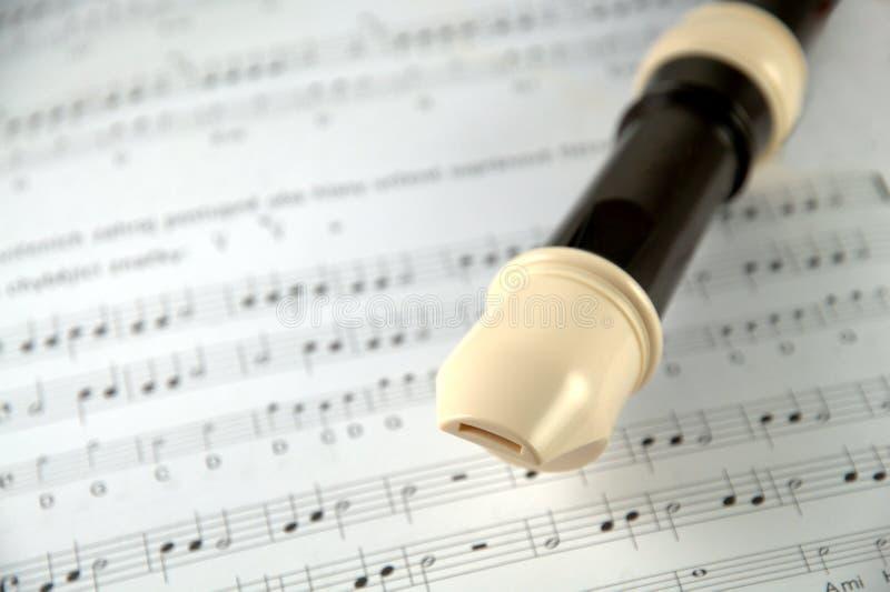 De discant van de fluit stock afbeelding