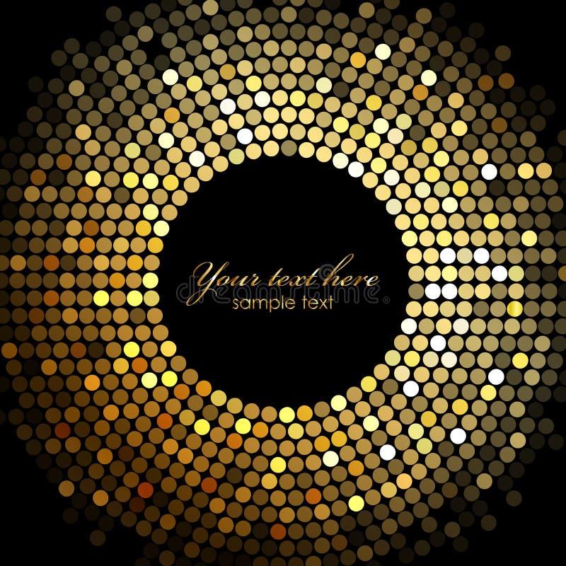 De disco steekt frame aan stock illustratie