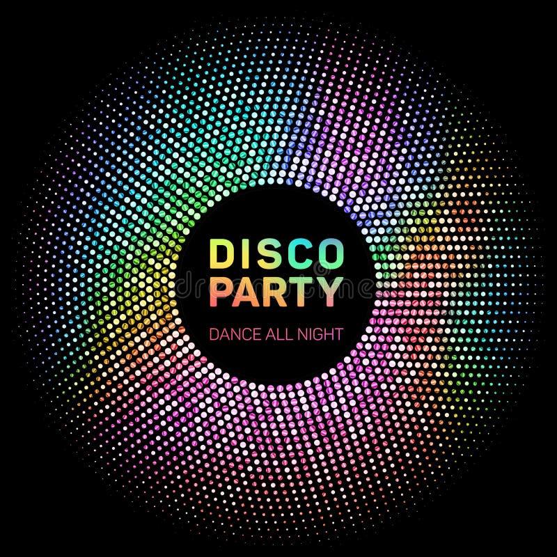 De disco steekt regenboog geometrisch neon het gloeien net aan royalty-vrije illustratie