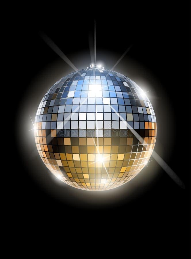 De discobal van de spiegel stock illustratie