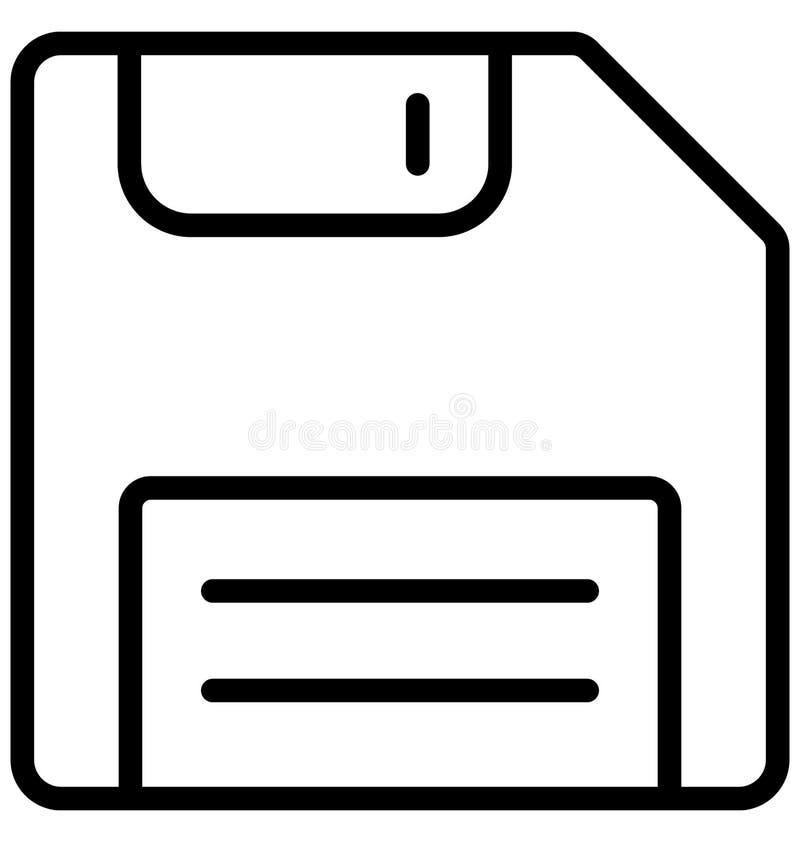 De diskette isoleerde Vectorpictogram dat zich gemakkelijk kan wijzigen of uitgeven royalty-vrije illustratie