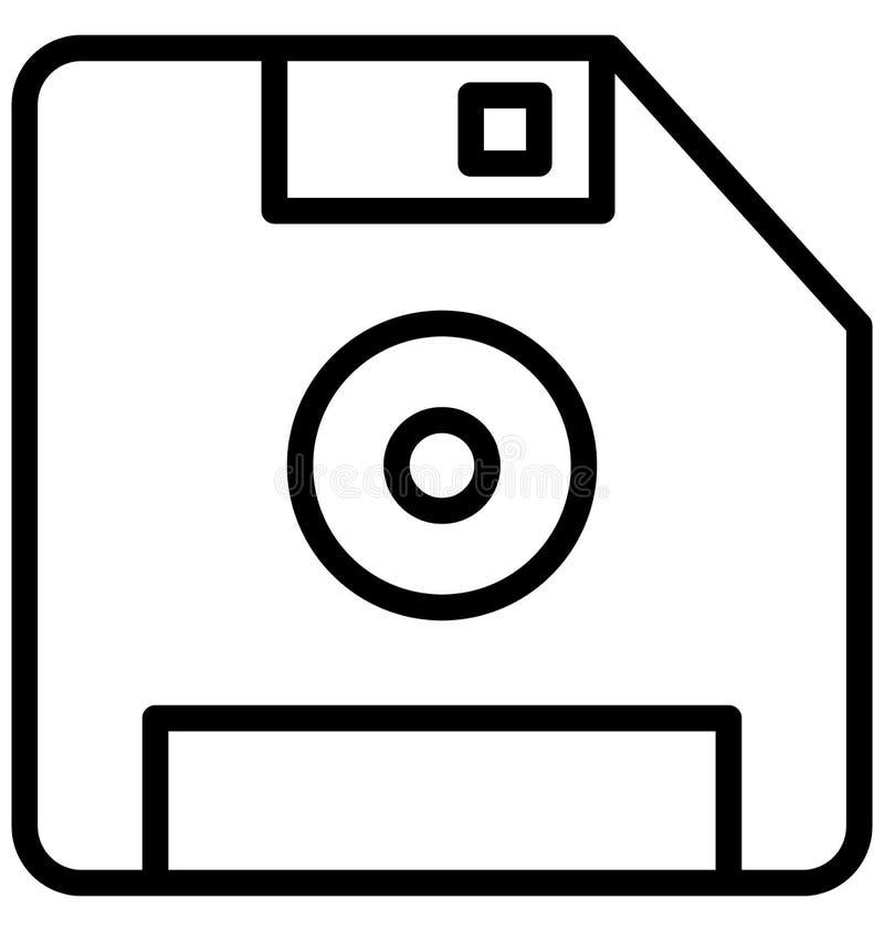 De diskette isoleerde Vectorpictogram dat zich gemakkelijk kan wijzigen of uitgeven vector illustratie