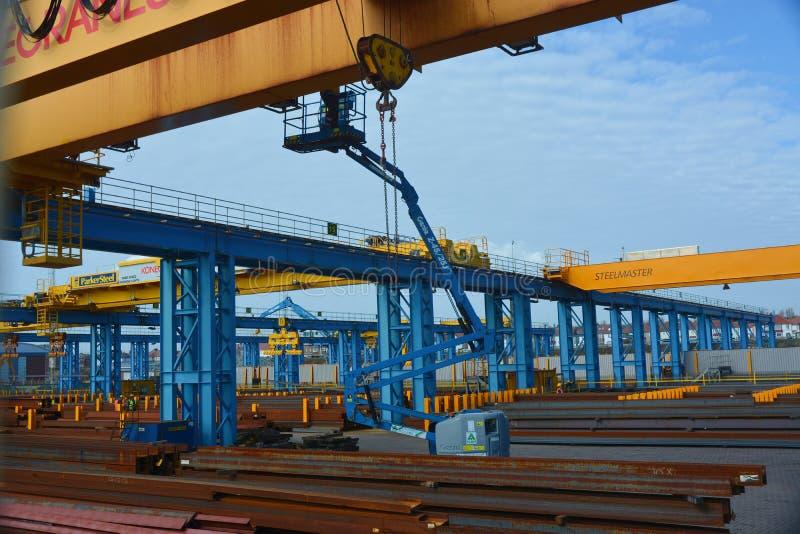 De distributie van de structureel staalwerf royalty-vrije stock foto's