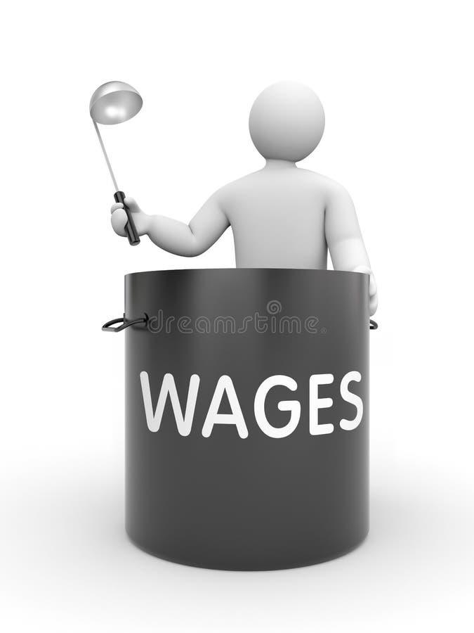 De distributie van lonen stock illustratie