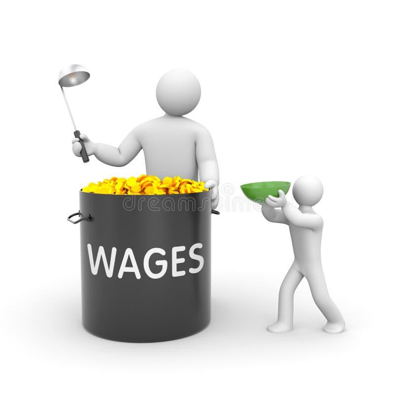 De distributie van lonen vector illustratie