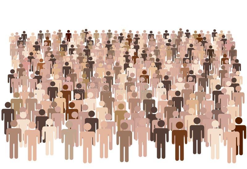De diverse groep van bevolkingsmensen royalty-vrije illustratie