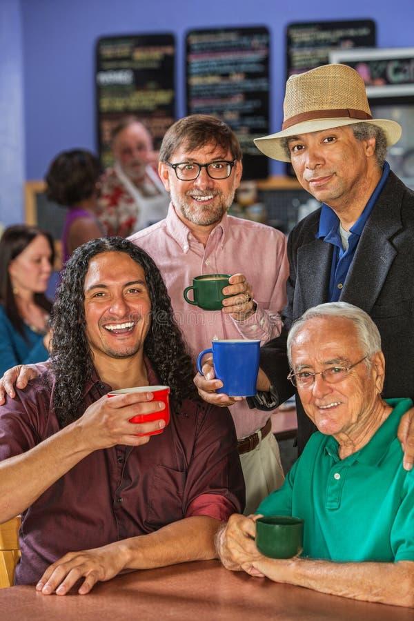 De diverse Mensen in Koffie huisvesten stock fotografie