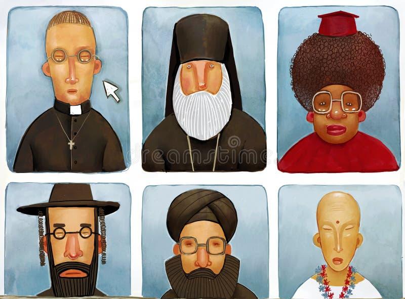 De diverse priesters stock illustratie