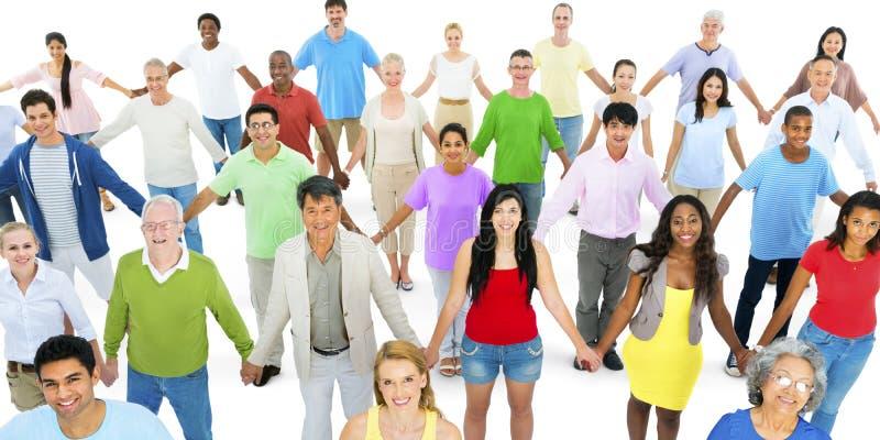 De diverse Samenhorigheid van de de Variatieeenheid van het Diversiteits Etnische Behoren tot een bepaald ras stock foto