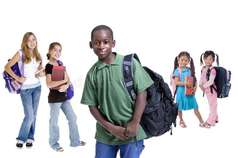 De Diversiteit van de Jonge geitjes van de school stock afbeelding