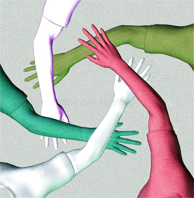 De Diversiteit van het team vector illustratie