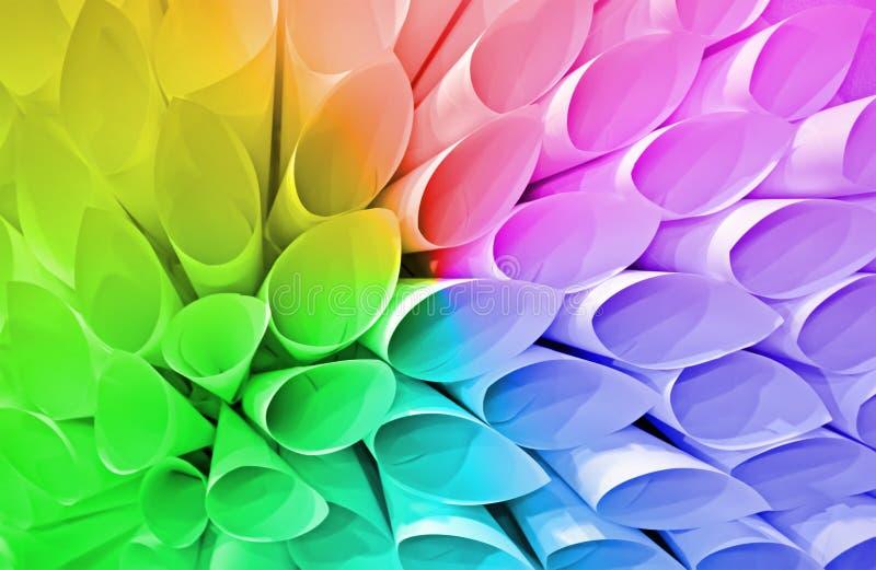 De diversiteit van regenboogbuizen, document conus hoop, royalty-vrije stock fotografie
