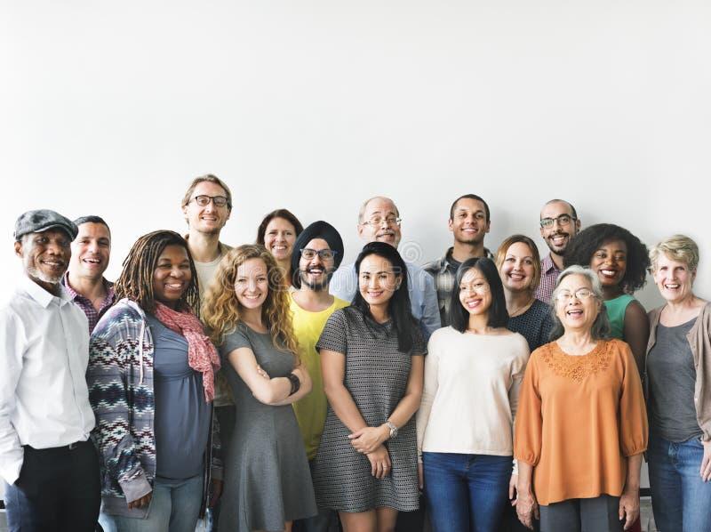 De diversiteitsmensen groeperen Team Union Concept