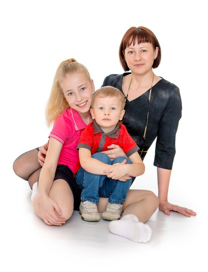De dochter en de zoon van het mamma royalty-vrije stock fotografie