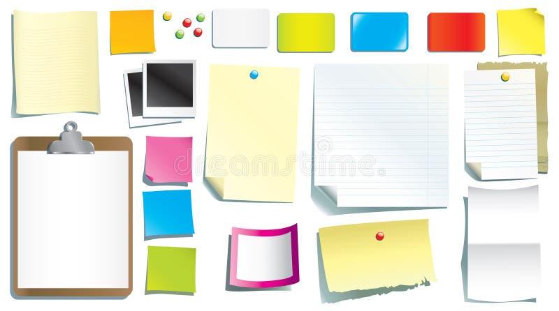 De documenten van de kantoorbehoeften royalty-vrije illustratie