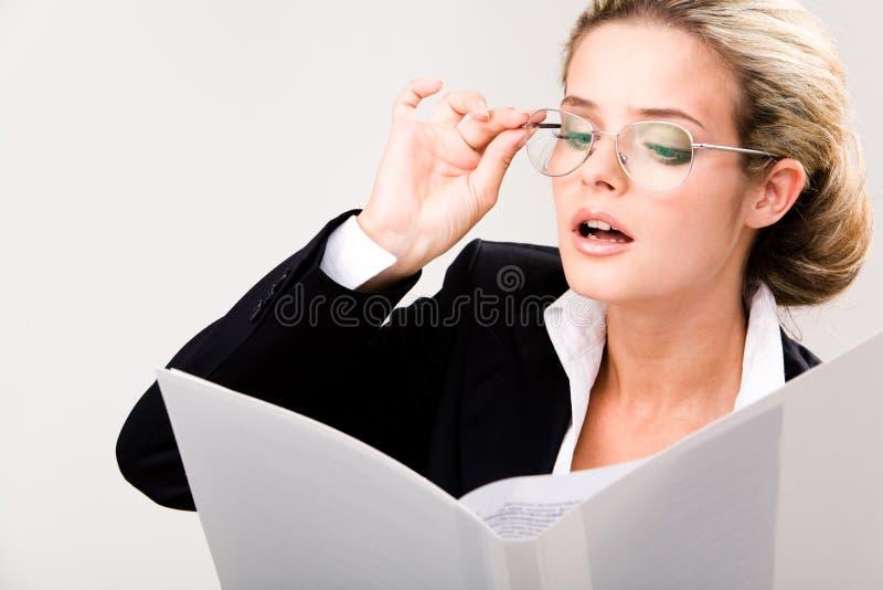 De documenten van de lezing stock foto's