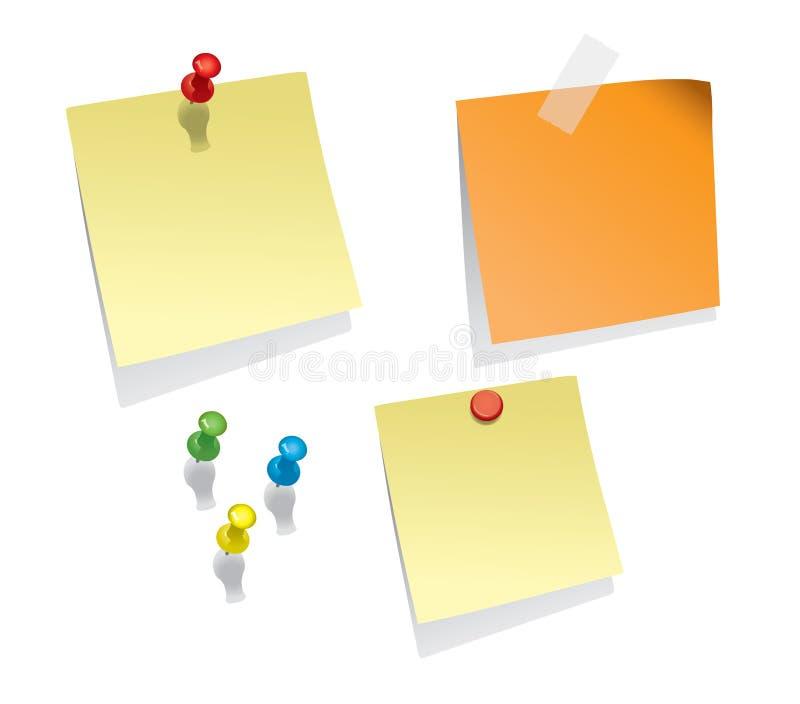 De Documenten van de nota vector illustratie