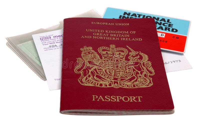 de documenten van de UK- Identificatie royalty-vrije stock fotografie