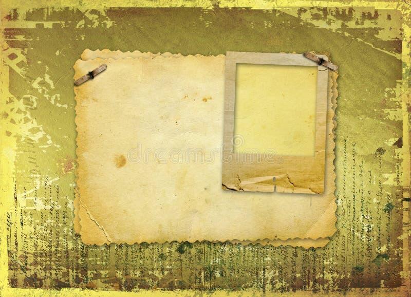 De documenten van Grunge ontwerp met spatie voor tekst vector illustratie