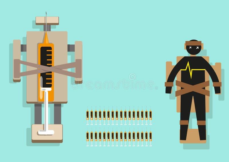 De dodelijke elementen van Infographic van de Injectiedoodstraf Het art. van de Editableklem vector illustratie