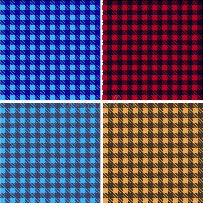 De doek van de picknicklijst Patroon van de kleuren het vierkante plaid Geometrisch traditioneel ornament voor maniertextiel, doe royalty-vrije illustratie