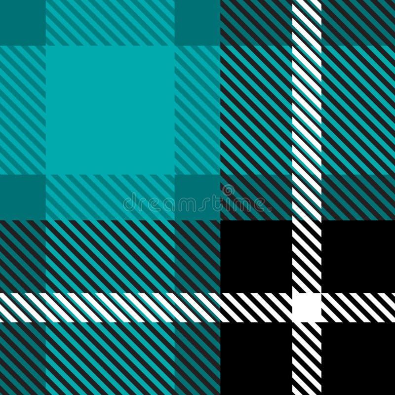 De doek van de plaidstof naadloos met van de achtergrond strepenkleur abstracte patroontextuur royalty-vrije illustratie