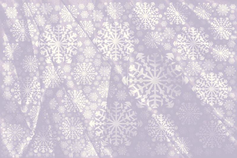 De doekdeken van de sneeuwfee de witte achtergrond van de sneeuwvlokkenwinter voor royalty-vrije illustratie
