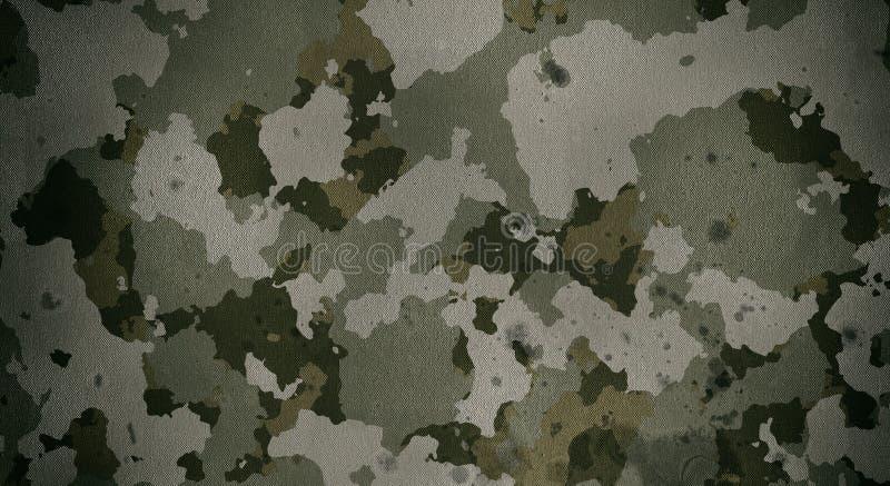 De doektextuur van het camouflagepatroon Achtergrond en textuur voor ontwerp stock afbeelding