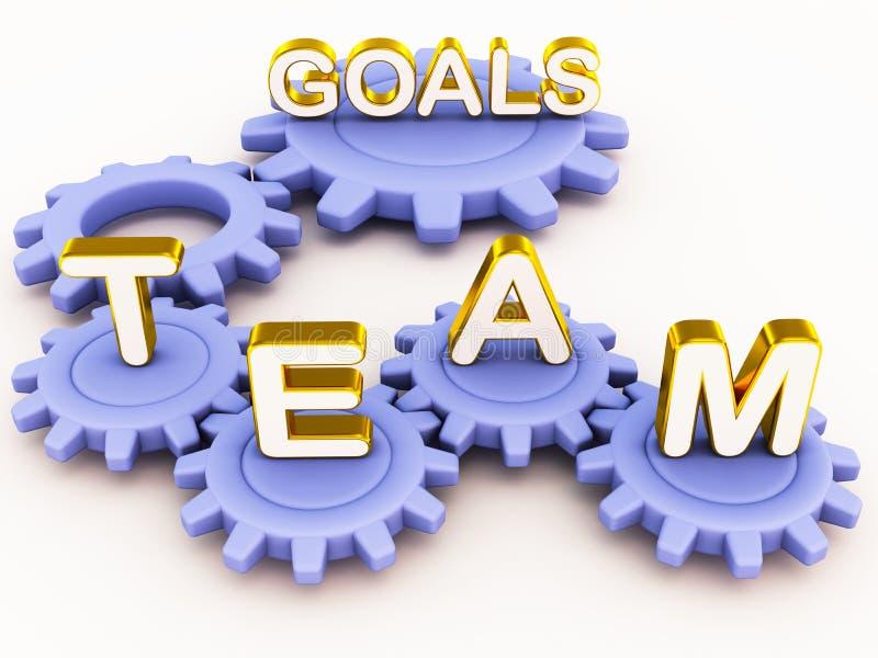 De doelstellingen van het team vector illustratie