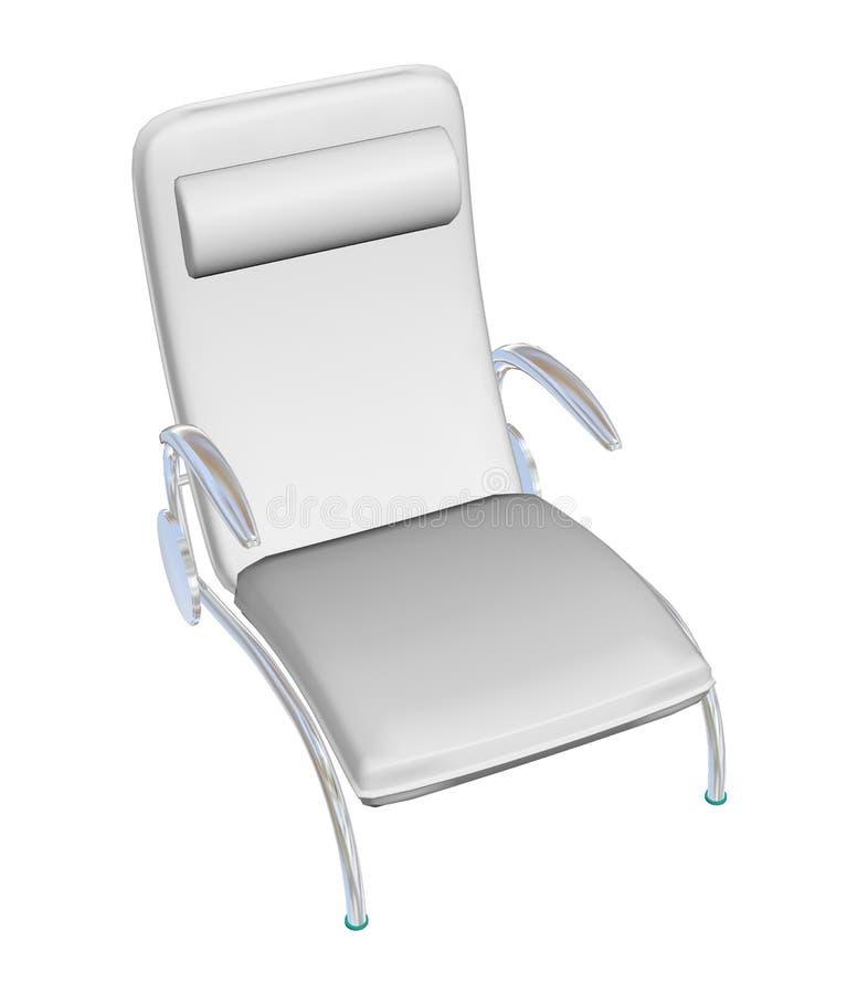 De doende leunen stoel van de leerzitkamer, 3D illustratie vector illustratie