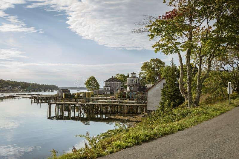De dokken Bernard Maine van zeekreeftpotten royalty-vrije stock foto