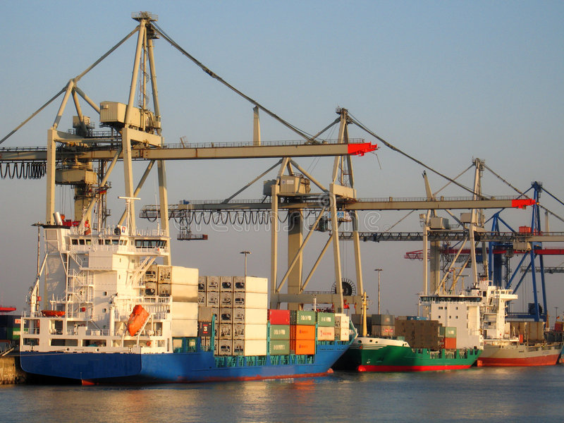 De dokken van Hamburg stock foto's