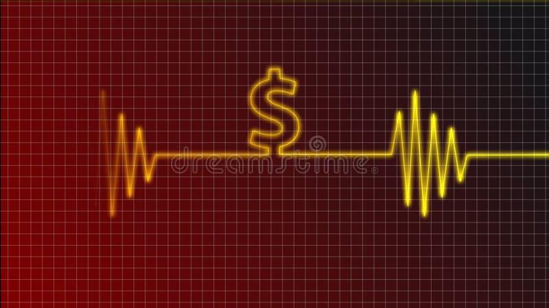 De dollar sloeg stock illustratie